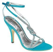 turquoise shoes with glitter