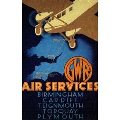 Vintage Travel BIRMINGHAM, CARDIFF, TEIGNMOUTH, TORQUAY and PLYMOUTH with G.W.R AIR. www.ilovesouthdevon.com