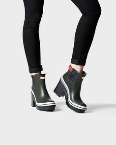 hunter 'original' high heel rain boot  heeled rain boots
