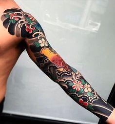 "4,981 Likes, 9 Comments - Japanese Ink (@japanese.ink) on Instagram: ""Japanese tattoo sleeve by @boneltattooer. #japaneseink #japanesetattoo #irezumi #tebori…"""