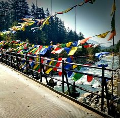 Enroute #Manali,  the beautiful River #Beas and the gloriously fluttering Tibetan prayer flags.                     For a soul searching holiday with your loved ones at The Manali Inn contact our Travel experts at 1800113939 or email us at info@manaliinn.com        #ManaliCalling                Image by Resfeber