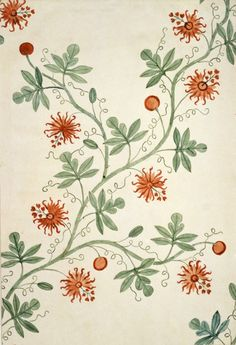 Silk design by Anna Maria Garthwaite, vers 1726-1727, Londres, Victoria and Albert Museum