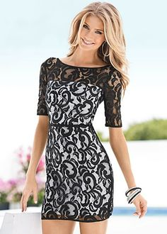 Black & White (BKWH) All Over Lace Dress $49  A lavish display of lace is the prettiest way to spend your season. · 	 Invisible back zip   · 	 Polyester; lining: poly/spandex   · 	 Imported  · 	Style #Z49013