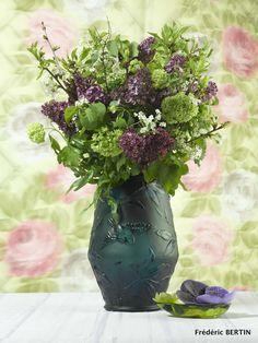Bouquet de Printemps dans vase Daum, photo de JL SCOTTO