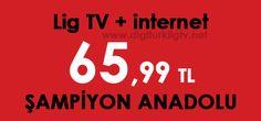 Digiturk Turksat uydu sistemi üzerinden izleyebileceğiniz Ulusal Kanallar + Lig Tv Şampiyon Anadolu Paketi + LİMİTSİZ internet aylık 65,99 TL'ye Digiturk Lig Tv'ye üye olabilirsiniz.   Lig Tv Şampiyon Anadolu Paketi ile tuttuğunuz anadolu takımının tüm maçlarını izlersiniz.  (Trabzonspor - Bursaspor)