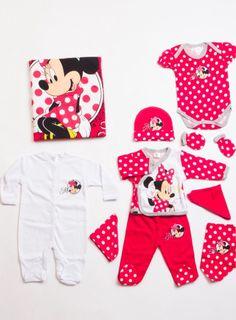 Disney MN5551 Minnie Mouse Lisanslı 10lu bebek hastane çıkış seti