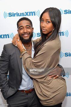 R&B singer Omarion and girlfriend Apryl Jones visit SiriusXM Studios on May 2014 in New York City. Tall Girl Short Guy, Short Girls, Black Love, Beautiful Black Women, Black Art, Black Couples, Cute Couples, Taller Girlfriend, Apryl Jones