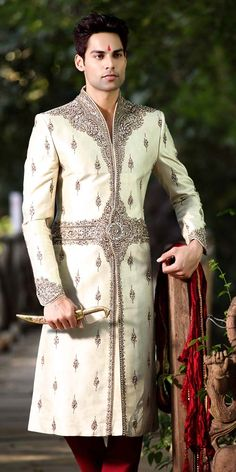 Incredible Groom Sherwani   Item code : SSJ8066  http://www.bharatplaza.com/ready-to-ship/sherwanis/incredible-groom-sherwani-ssj8066.html https://www.facebook.com/bharatplazaportal https://twitter.com/bharat_plaza