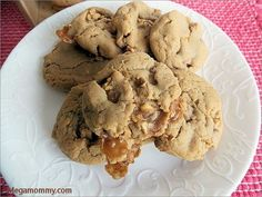Salted Caramel Peanut Butter PayDay Cookies - Powered by @ultimaterecipe