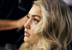 Hadid News || Your best and ultimate source for all things about the Hadid sisters  - BTS shot of Gigi Hadid working for Maybelline.