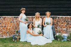 A Pretty Pale Blue Summer Country Barn Wedding