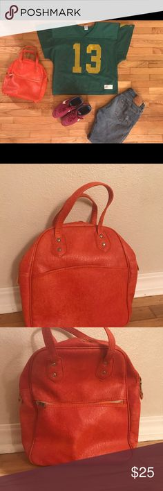 a9ce48321c98 Mid century burnt orange mint condition bag purse Excellent bag in burnt  orange from the 60s