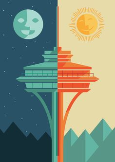 I'd love to do something like this but of a different subject. Seattle Love    via Kimmy Design Blog
