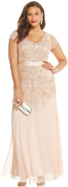 http://www.lyst.com/clothing/adrianna-papell-plus-size-cap-sleeve-embellished-gown-blush/