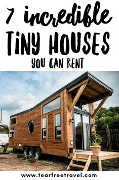 Have you wanted to try out tiny house living but can't imagine living in a small space full-time? Check out these amazing tiny house rental properties in the US that would be perfect for your next family vacation! Tiny house vacation rentals give you an c Toddler Travel, Travel With Kids, Family Travel, Family Vacations, Baby Travel, Family Trips, Beach Vacations, Travel Usa, Travel Tips