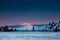 Ch-paa-qn Peak at Sunrise  Missoula, Montana  © Mark Mesenko  via Western Montana FB