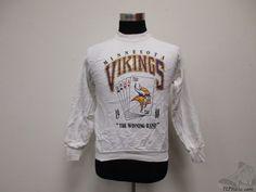 Vtg 80s Fruit of the Loom Minnesota Vikings Crewneck Sweatshirt sz M Medium NFL Vintage by TCPKickz on Etsy