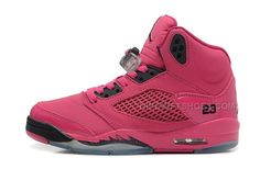 the latest daf4d c1c56 Girls Air Jordan 5 Retro GS Vivid Pink Black For Sale Online