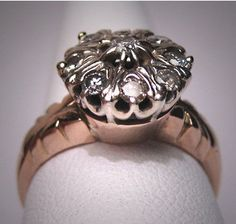 Antique Diamond Wedding Ring  Rose Gold & White Vintage  I would love love love to have this
