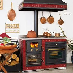 cuisini re mixte bois cuisson warm n cozy pinterest. Black Bedroom Furniture Sets. Home Design Ideas