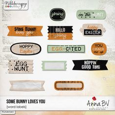 Some Bunny Loves You word labels