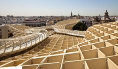 Wooden Architecture, Spanish Architecture, Architecture Design, Minimalist Architecture, Parasol, L'architecture Espagnole, Travel Competitions, La Encarnacion, Types Of Roofing Materials