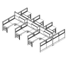 18 Best Dogbone Cubicles Desks Workstations Images