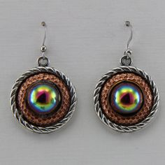 Hand Made Mixed Metal And Czech Glass Earrings by oscarcrow
