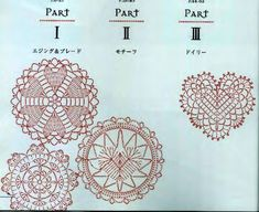 from Asahi original crochet heart pattern Easter Crochet, Irish Lace, Heart Patterns, Crochet Doilies, Appliques, Planes, The Originals, Projects, Riveting