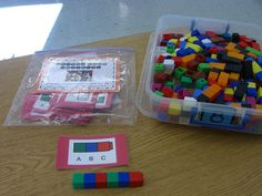 great cards for math tubs patterning activity