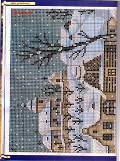 Rozárka2007/6 - Erzsébet Grenácsné - Picasa Web Albums Knitting Charts, Landscape Pictures, Cross Stitch Charts, Winter Scenes, Cross Stitching, Embroidery Stitches, Needlepoint, Fun Crafts, Needlework