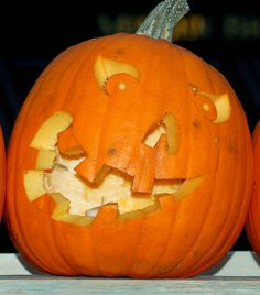 Happy Jack O Lantern Faces Pumpkin Art, Pumpkin Faces, Pumpkin Carving, Jack O Latern, Jack O Lantern Faces, Crooked Smile, Laughing Jack, Painted Pumpkins, Pumpkin Decorating