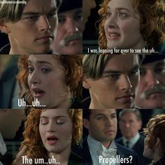 """I love how Jack is like """"god girl decide some bullshit he sniffs us out"""" xxx Titanic Movie Facts, Titanic Quotes, Titanic History, Rms Titanic, Sad Movies, Film Movie, Leo And Kate, Leonardo Dicapro, Young Leonardo Dicaprio"""