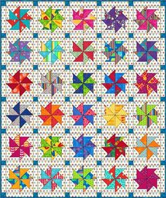 Baby quilt designed with Flying Kite quilt blocks
