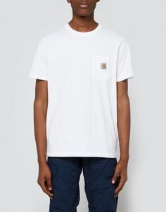 S/S Pocket T-Shirt in White