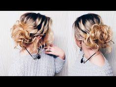 Повседневная прическа с резинками ♥ Деловая прическа ♥ Elegant Up-Do Hair Tutorial - YouTube