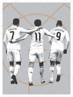 Cristiano Ronaldo, Karim Benzema, Gareth Bale, Real Madrid, BBC