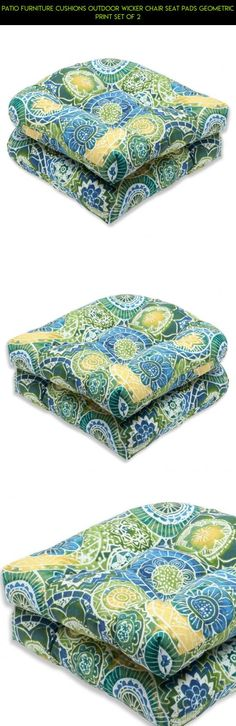 Patio Furniture Cushions Outdoor Wicker Chair Seat Pads Geometric Print Set of 2 #gadgets #shopping #products #parts #racing #technology #pads #fpv #tech #camera #plans #kit #patio #furniture #drone