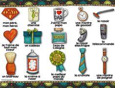 FREEBIE-14 mots-étiquettes pour la Fête des pères avec les images de #KateHadfield #father's day #litteracy #daily5