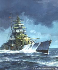 warship art | Artist: © Grzegorz Nawrocki. Many original paintings of the warships ...