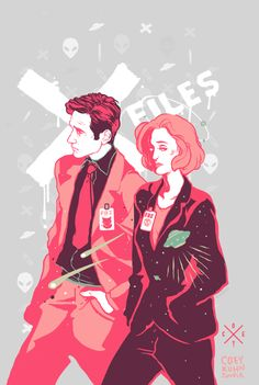 Mulder and Scully by Coey Kuhn.