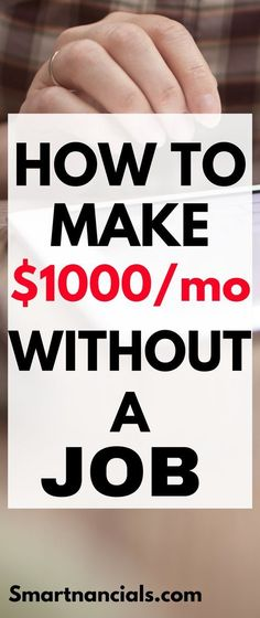 If you're a stay at home mom or you dad can make over $1000/month without an actual job. Click through to see how you can!