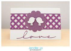 Jennifer Lo Photography: Purple Wedding Card