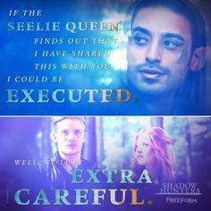 """S1 Ep10 """"This World Inverted"""" - """"We'll be extra careful."""" #Shadowhunters"""