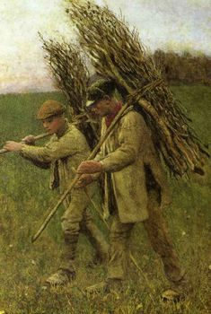 British Paintings: (Sir) George Clausen - The Return from the Fields 1896