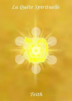 9- TEITH   L'intériorité. Le Refuge dans La Puissance Des Profondeurs pour s'ouvrir aux choses supérieures, le Bouclier protecteur des forces de la Nature. L'introspection, la réflexion, le regroupement des forces, le rapprochement des affinités, l'isolement, la gestation, l'équilibre mental parfait, la maturation et le couronnement des efforts.   Direction : Nord Zénith   Mois : Juillet,    Signe : Lion   Couleur :Jaune or    dans le corps: Cœur, dos, vitalité générale.   SEPHER YETSIRAH…