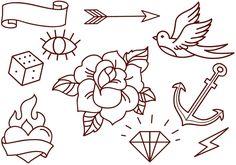 Free Old School Tattoos Vectors