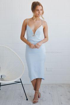 runaway alana dress - blue