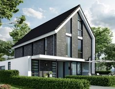 Woning Almere, eigentijds modern, strakke belijning. Bongers Architecten BNA