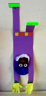 Zwarte Piet op z'n kop.
